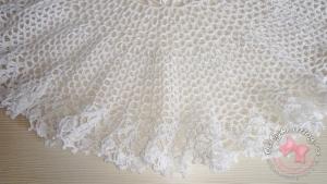 Белый ажурный сарафан.