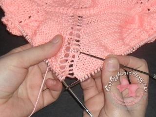 Цепочка по вязаному полотну 4