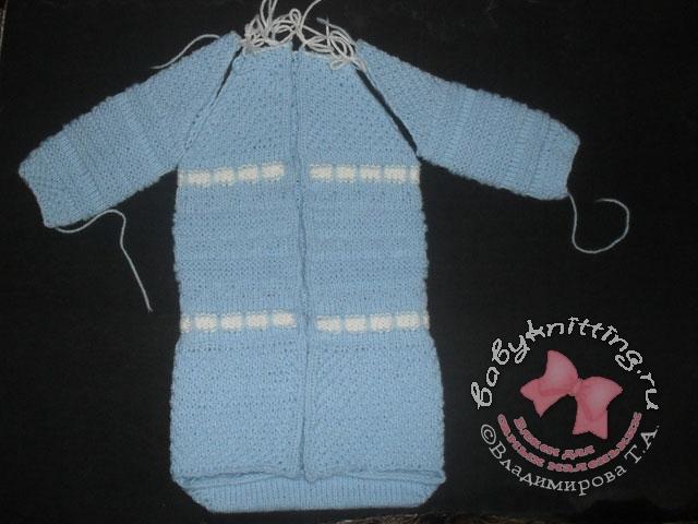 Комментарий: одеяло детское вязаное спицами.
