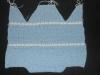 Голубой конверт для прогулок, связанный спицами