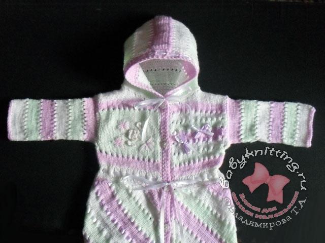 Комментарий: вязание чепчиков спицами для новорожденных.