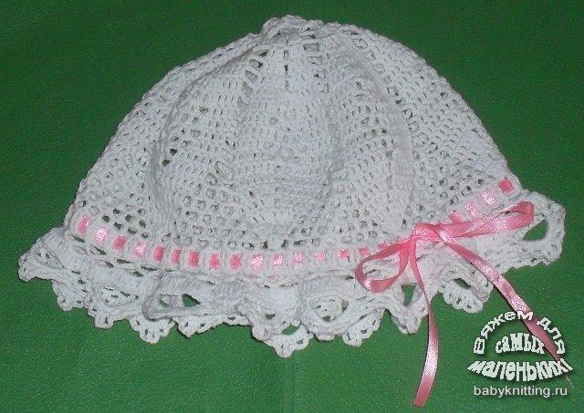 детские панамки вязание