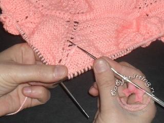 Цепочка по вязаному полотну 3