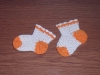 Носочки детские,связанные крючком.