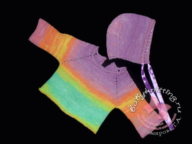 схема вязания на спицах свитер с горлом для мальчика