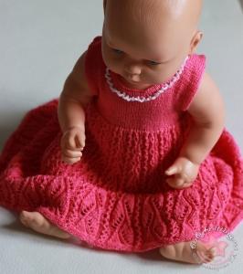 Ажурное платье спицами для девочки 6 - 12 месяцев