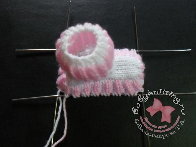 вязание спицами для новорожденных