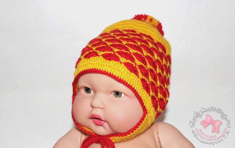 Вязание для маленьких шапочки 26