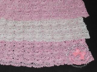 Топик бело-розовый из tulip(YarnArt)