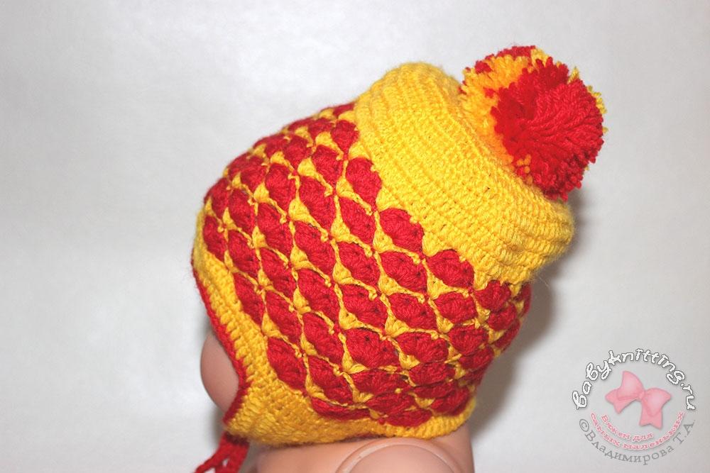 Вязание для маленьких шапочки 68