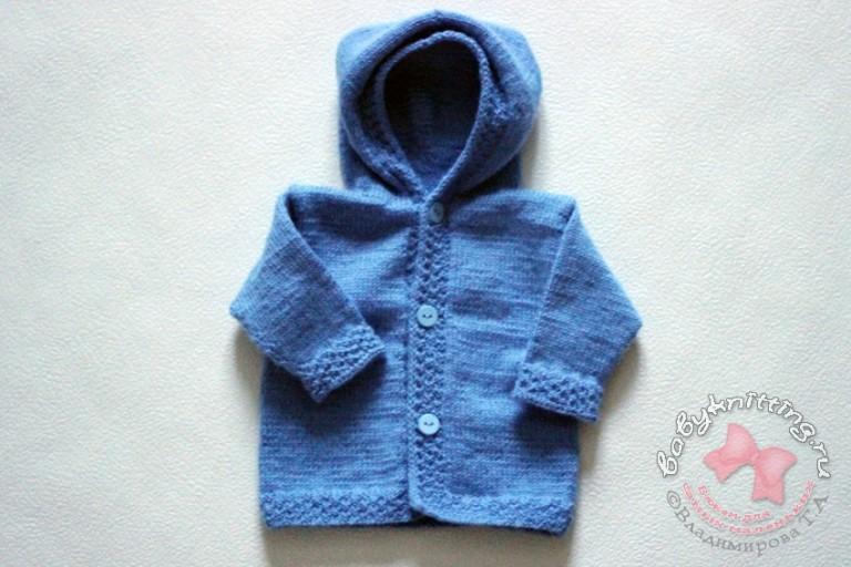 Комплект-для-новорожденного-малыша-спицами-часть-2-кофточка