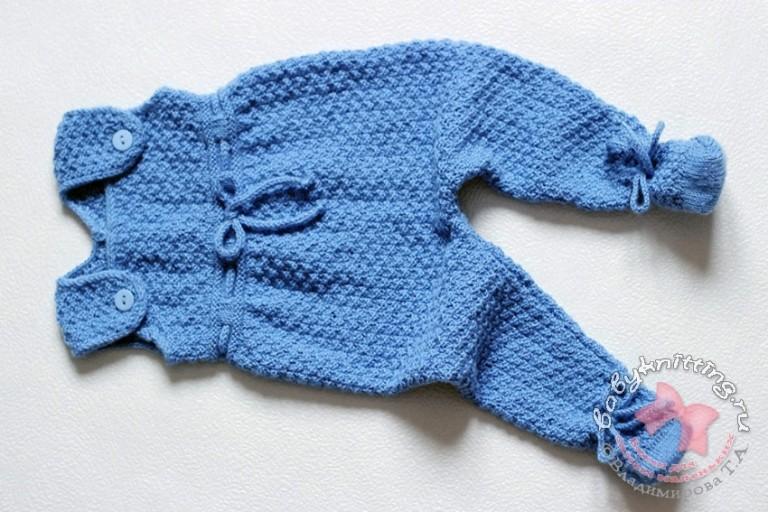Комплект-для-новорожденного-малыша-спицами